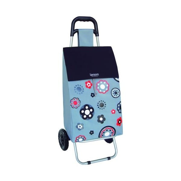 Nákupní taška na kolečkách Flower Gray, 45 l
