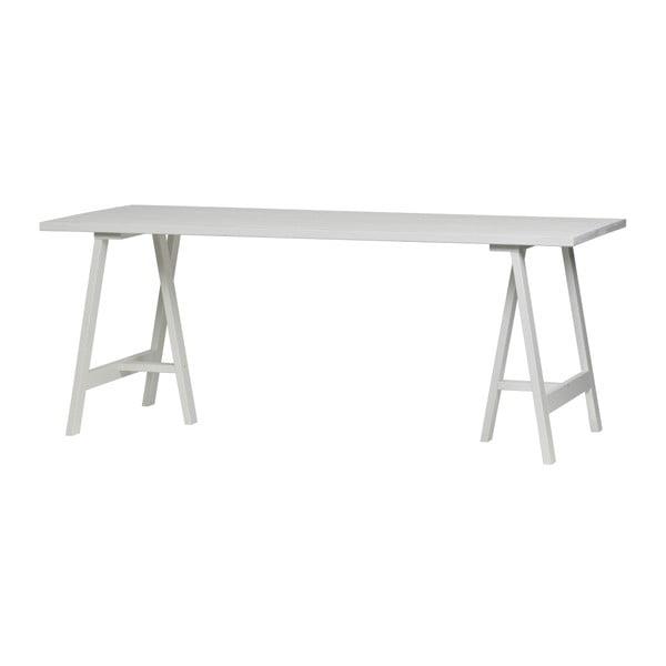 Panel fehér kőrisfa asztallap étkezőasztalhoz, 220 x 80 cm - vtwonen