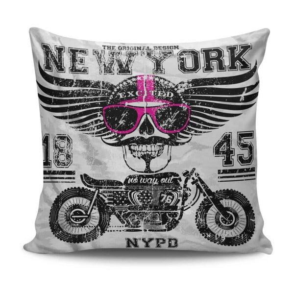 Pernă Motorbike Love, 45 x 45 cm, cu umplutură
