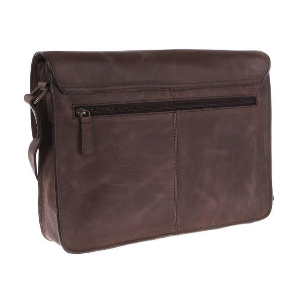 Pánská kožená taška Camden Brown Small Satchel