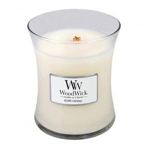 Lumânare parfumată WoodWick, aromă de cocos, 275 g, 60 ore