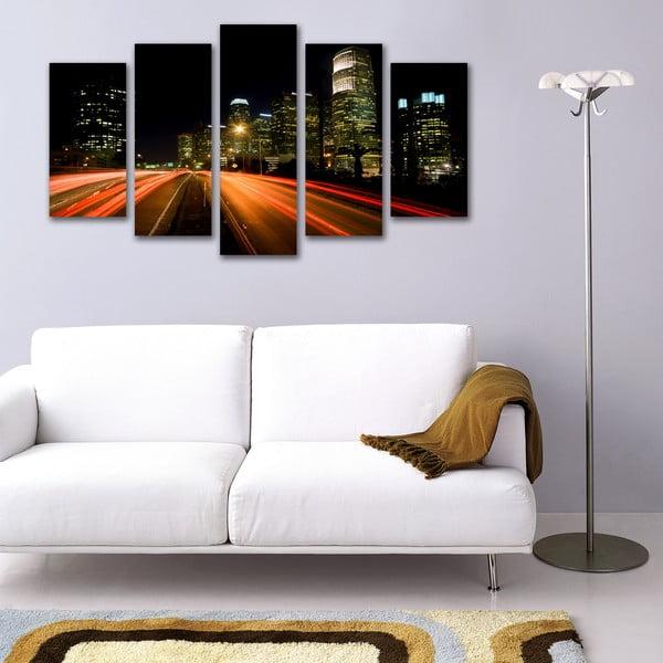 5dílný obraz Noční ulice