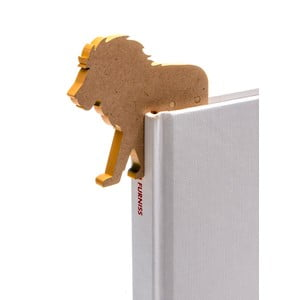 Záložka doknížky vetvaru lva Thinking gifts Woodland