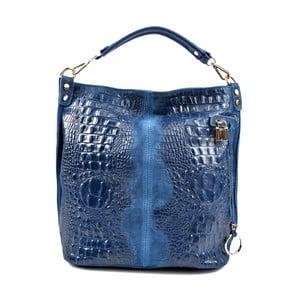 Modrá kožená kabelka RobertaM Russna