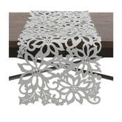 Běhoun na stůl ve stříbrné barvě InArt XMas