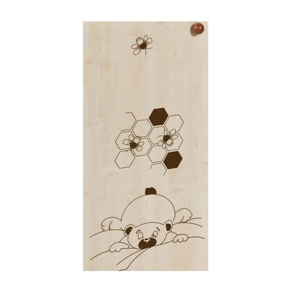 Dětská postýlka v dekoru dřeva se zásuvkou a lištou proti okusu bočnice Faktum Makao Medvídek,60x120cm