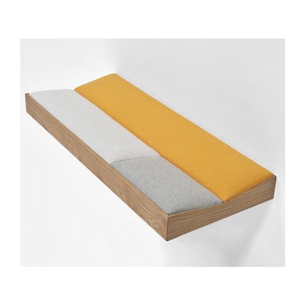Snug Orange, dubová polstrovaná police 60 cm