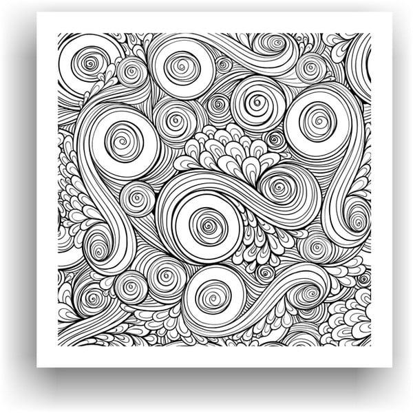 Obraz k vymalování Color It no. 51, 50x50 cm