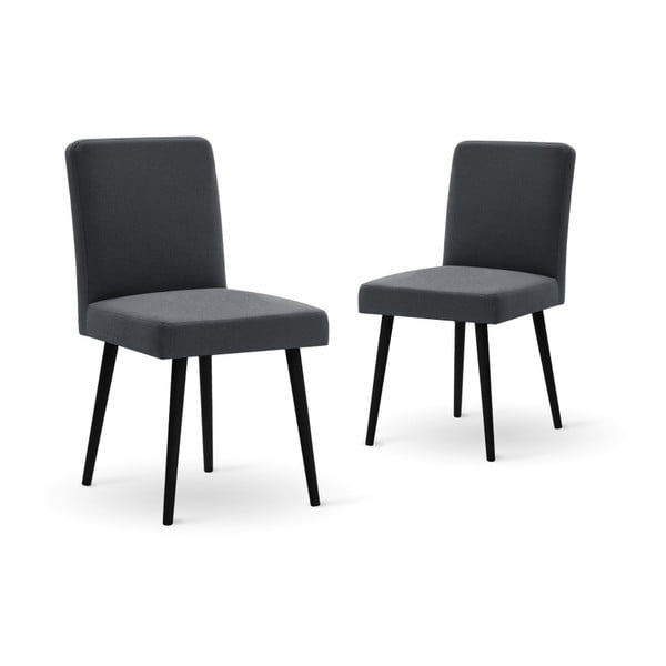 Set canapea neagră,, 2 scaune gri antracit, o saltea 140 x 200 cm Home Essentials