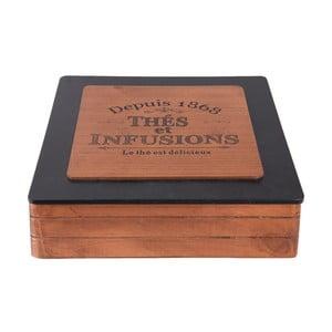 Dřevěný úložný box na čaj Clayre&Eef Hermesso Grande