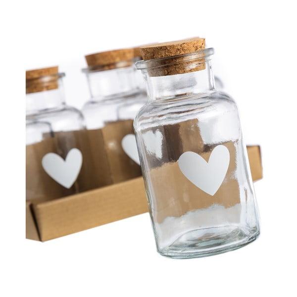 Sada 6 skleniček Heart, 250 ml