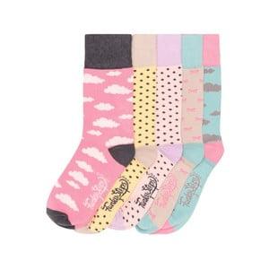 Sada 5 párů barevných ponožek Funky Steps Beautiful Day, vel. 35-39