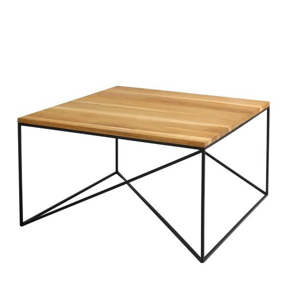 Konferenční stolek s černou konstrukcí a deskou v dekoru dubového dřeva Custom Form Memo, délka80cm