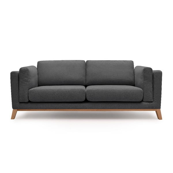 Ciemnoszara sofa 3-osobowa Bobochic Paris Enjoy