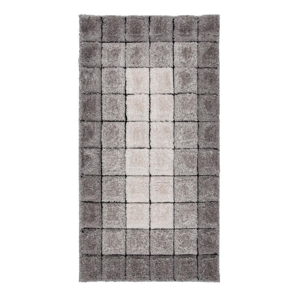 Šedý koberec Flair Rugs Cube, 80 x 150 cm