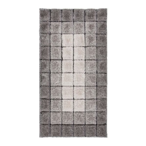 Covor Flair Rugs Velvet 3D Cube Grey, 80 x 150 cm