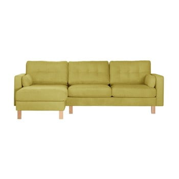 Canapea cu șezlong pe partea stângă Stella Cadente Maison Lagoa galben verzui