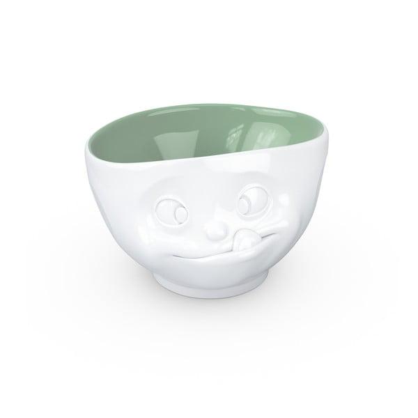 Bielo-zelená porcelánová miska na sladkosti 58products
