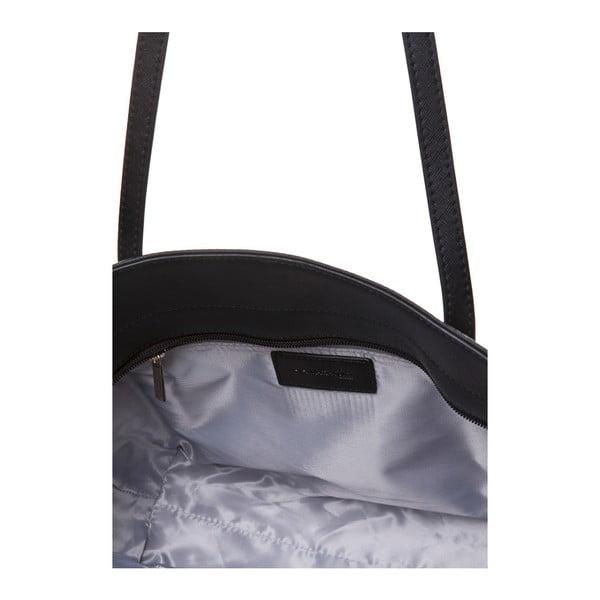 Kožená kabelka přes rameno Marta Ponti Zippy, černá