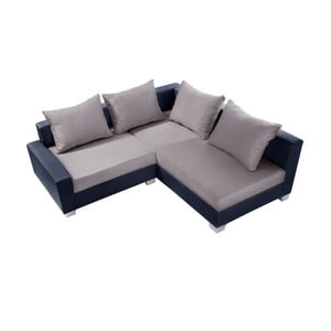 Modro-šedá sedačka Interieur De Famille Paris Aventure, pravý roh