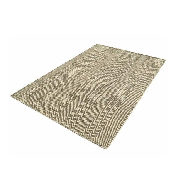 Ručně tkaný koberec Grey Zigzag Kilim, 70x115 cm