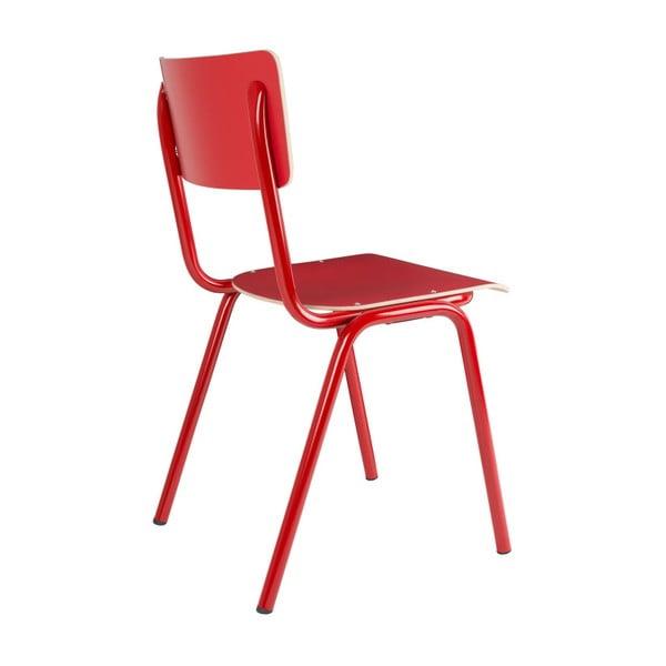 Sada 4 červených židlí Zuiver Back to School