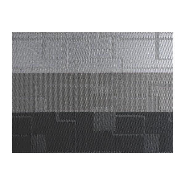 Szara mata stołowa z tworzywa sztucznego Tiseco Home Studio Chiné Stripe, 30x45 cm