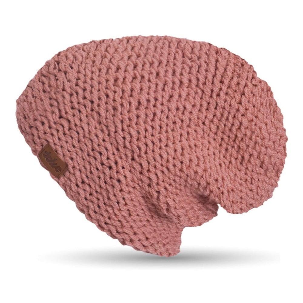 Růžová ručně pletená čepice DOKE Peach  190c626586