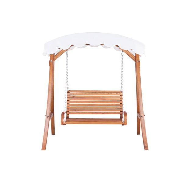 Záhradná drevená hojdačka s prístreškom Monobeli swing