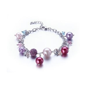 Náramek s růžovými krystaly Swarovski Elements Crystals Pinky