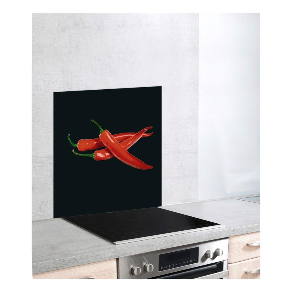Skleněný kryt na sporák Wenko Peperoni, 60 x 70 cm