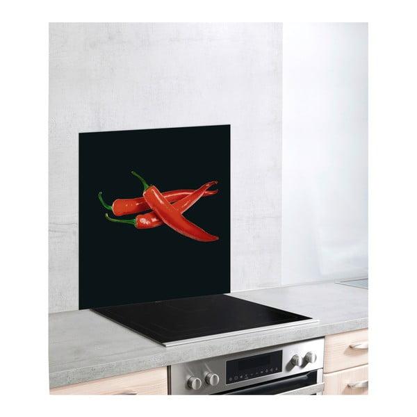 Szklana płyta ochronna na kuchenkę Wenko Peperoni, 60x70 cm