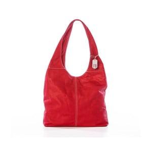 Červená kabelka z pravé kůže Federica Bassi Kriss