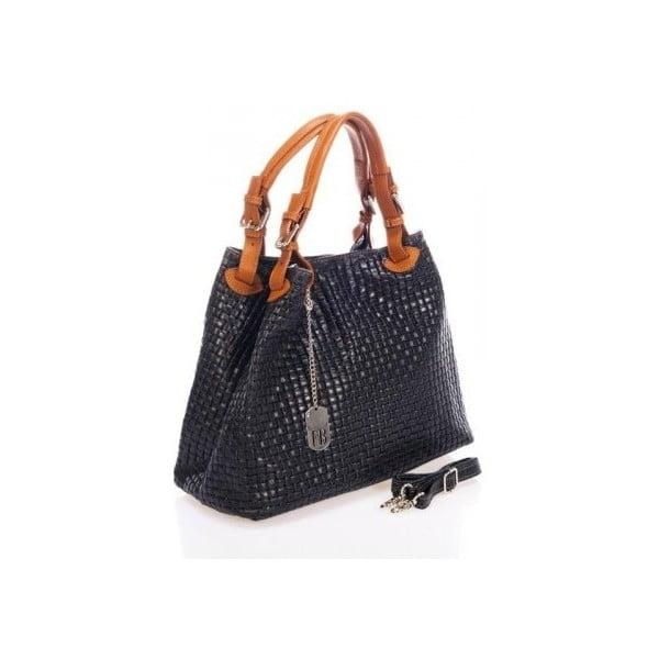 Černá kožená kabelka Federica Bass Hydri