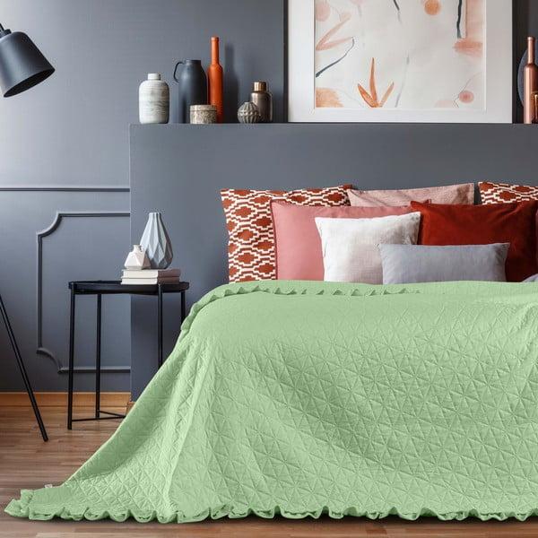 Zielona narzuta AmeliaHome Tilia Mint, 220x240 cm