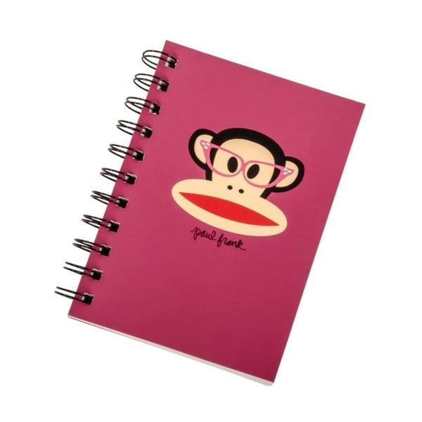 Zápisník Paul Frank Pink Monkey