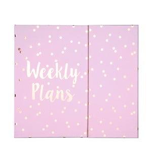 Kapesní týdenní plánovač Tri-CoastalDesign Weekly Plans