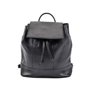 Černý kožený dámský batoh Roberta M Ramida
