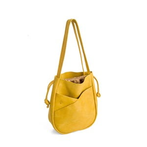 Žlutá kožená kabelka Woox Bella