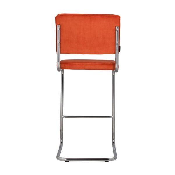 Oranžová barová židle Zuiver Ridge Rib