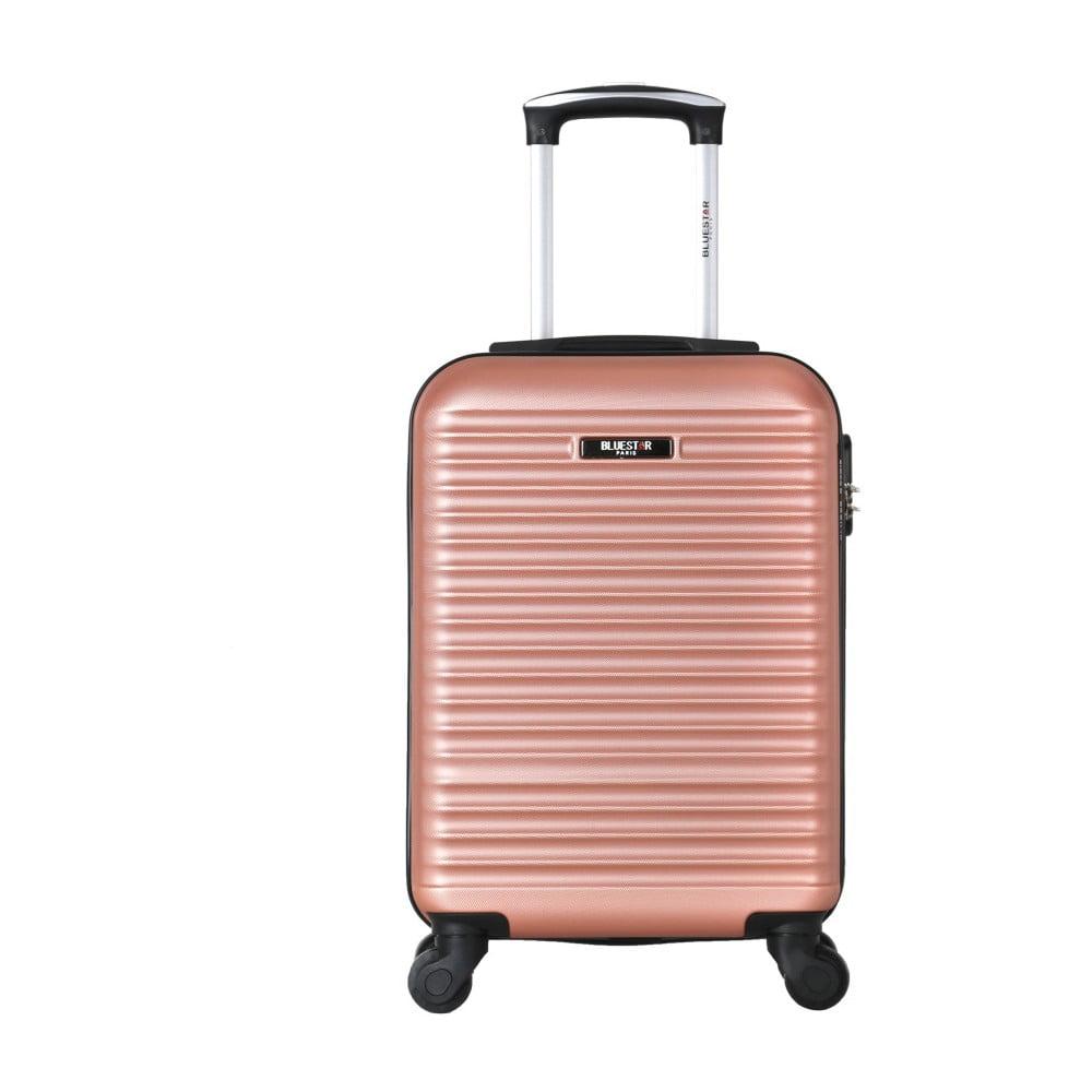 Růžový cestovní kufr na kolečkách Bluestar Mirassa, 31 l