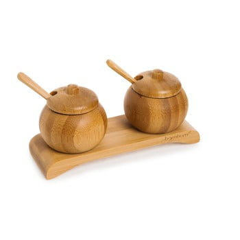Set din bambus pentru condimente Bambum Obra imagine