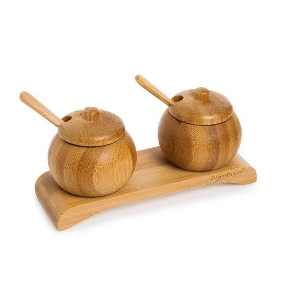 Zestaw 2 pojemniczków na przyprawy z bambusu Bambum Obra