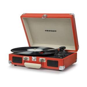 Červený gramofon Crosley Cruiser Deluxe