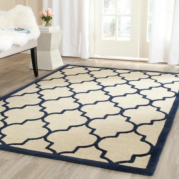Vlněný koberec Everly Navy, 121x182 cm