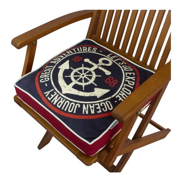 Pernă pentru scaun Gravel Navy, 42x42cm,cuumplutură