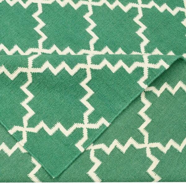 Vlněný koberec Eugenie Green, 180x120 cm