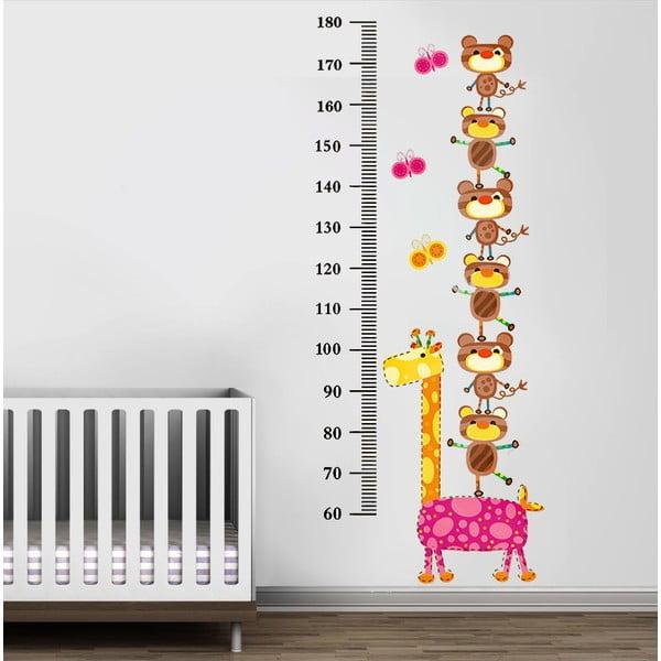 Samolepka na stěnu Žirafa a medvídci, 60x90 cm