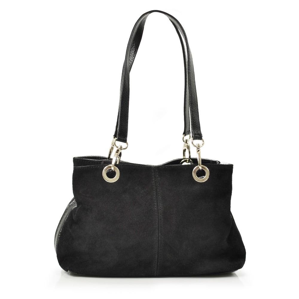 Kožená kabelka Giselle, černá