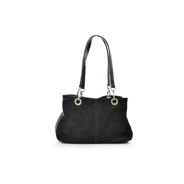 Kožená kabelka Gigi, černá